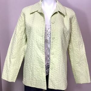 Eileen Fisher Lime Green Quilted Jacket S